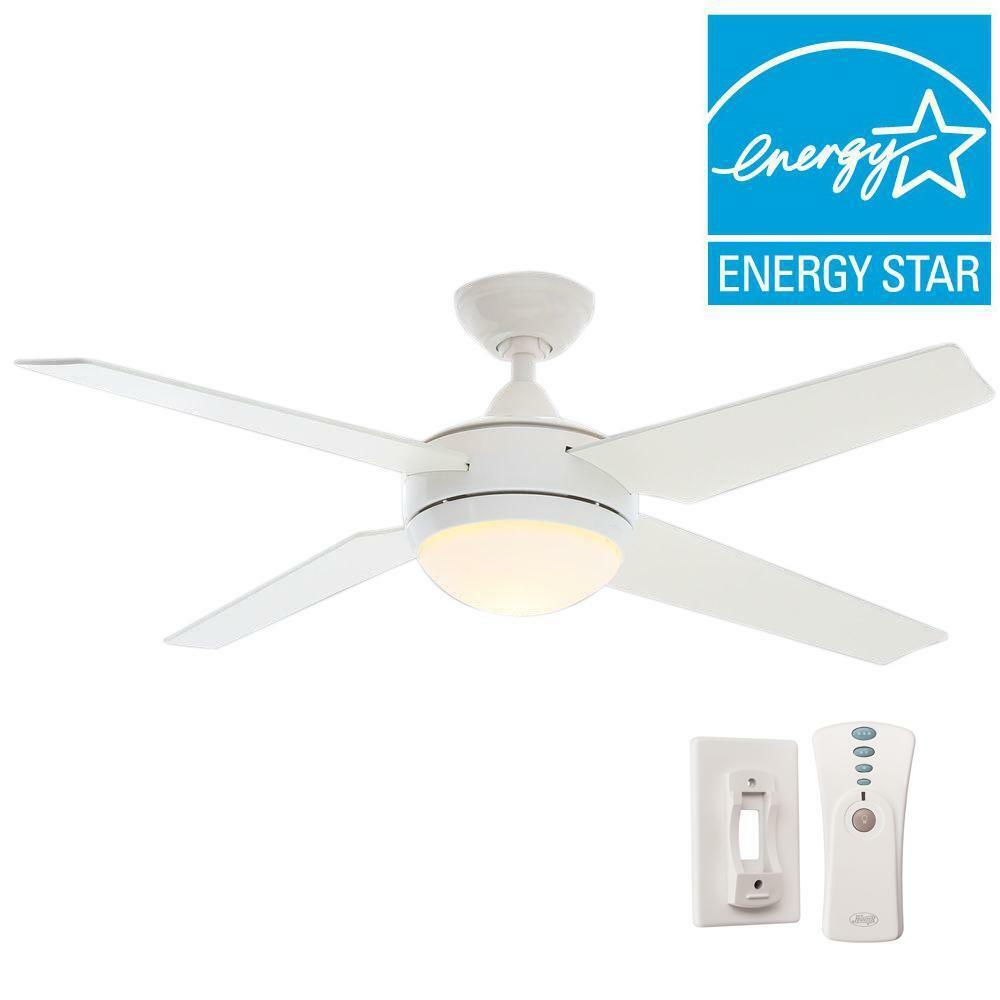 Details About Hunter Sonic 52 In Indoor White Ceiling Fan With Universal Remote 59073