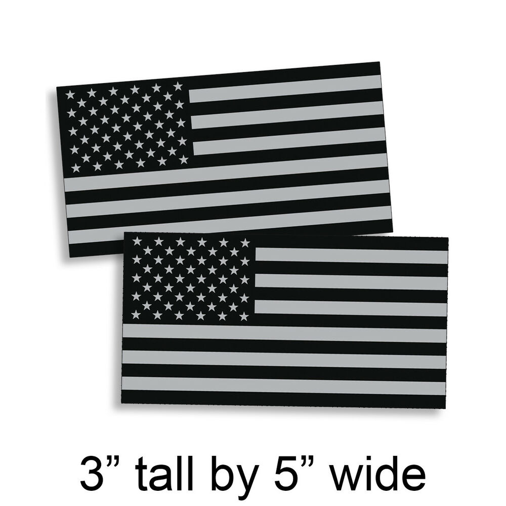 Details about black ops gray 3 x 5 american flag sticker grunge car truck subdued usa decal us