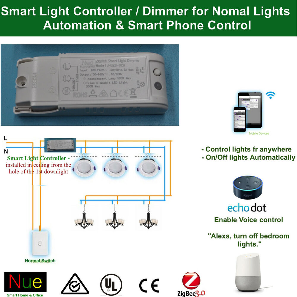 Home Automation Light Control: Smart Light Controller / Dimmer For Google Home Mini Echo