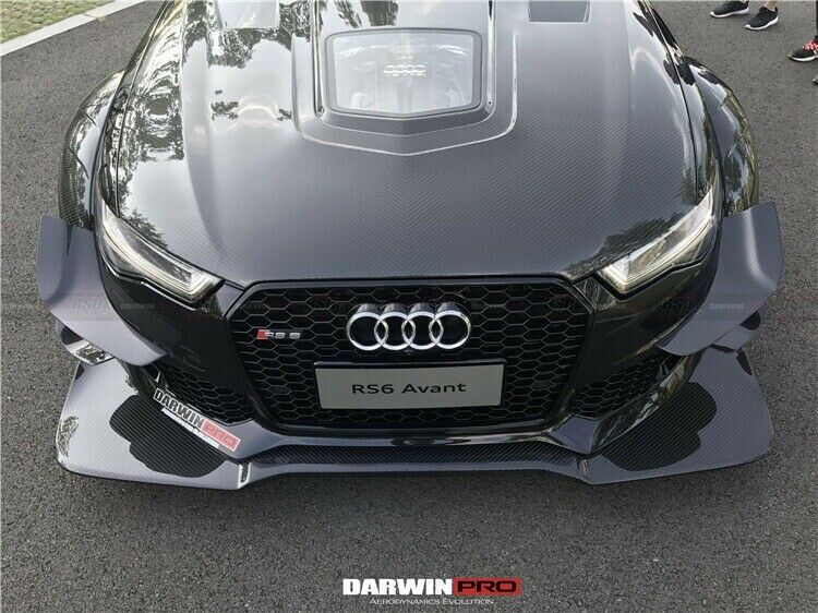 Darwinpro 2015  Audi A6  S6  Rs6 Avant Carbon Fiber Hood Bonnet Body Kit W   Glass
