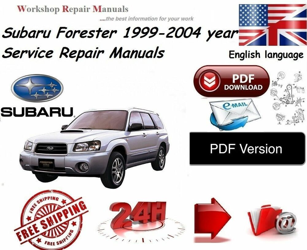 subaru forester 1999 2004 workshop service manual full pdf ebay rh ebay co uk 1999 subaru forester owners manual pdf 2001 Forester