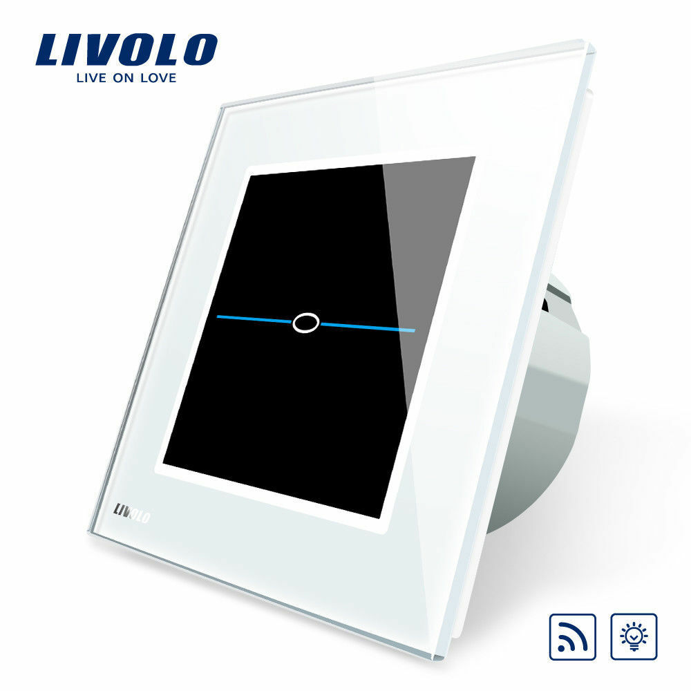 livolo touch glas lichtschalter steckdose dimmer funkschalter steckdose in weiss ebay. Black Bedroom Furniture Sets. Home Design Ideas
