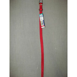 Brand New Coastal Pet Products Nylon Dog Collar Solid Red 12'' Long x 5/8'' Wide