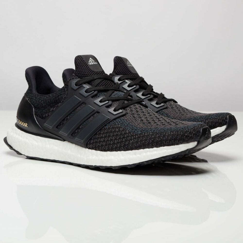 Details about adidas Ultra Boost Mens Core Black Running Shoes Trainers  BB3909 ALL Sizes 238225cff2ee
