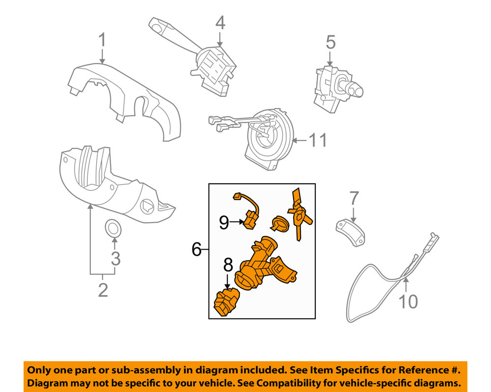Details about KIA OEM 06-09 Rio-Ignition Lock Cylinder 819001GM00