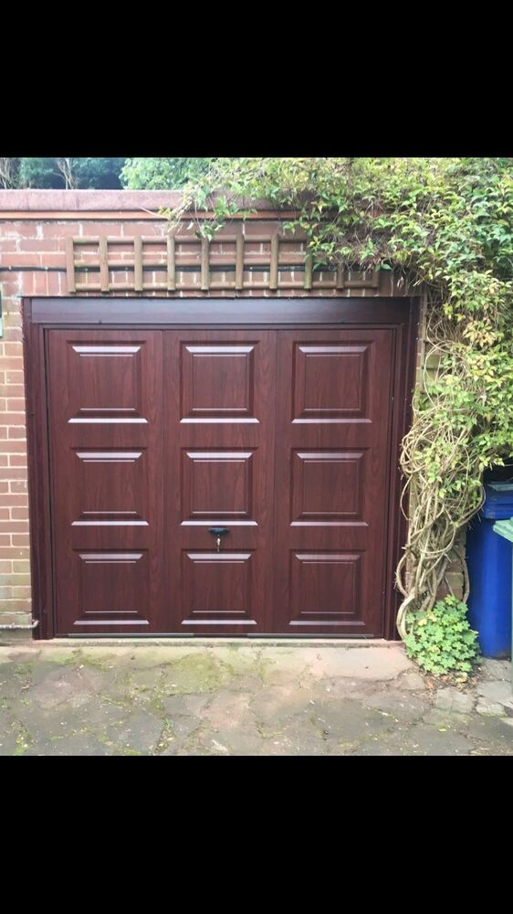 Cardale Regent Georgian Style Garage Door Rosewood Fully Fitted Inc