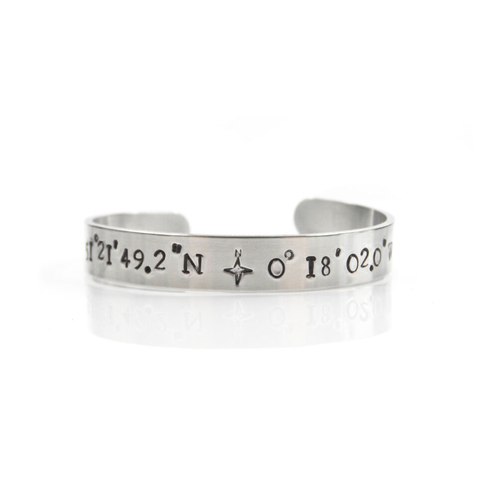 custom personalized women latitude s longitude bracelet