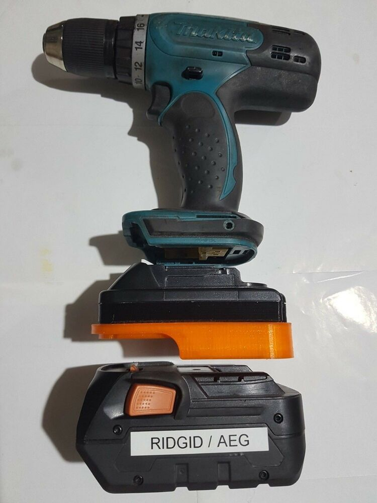 ridgid aeg 18v battery adapter to makita lxt powertools ebay. Black Bedroom Furniture Sets. Home Design Ideas