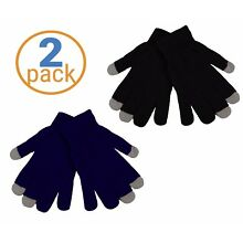 2 Pack Woman's Texting Gloves Winter Knit Touch Screen Glove - iPhone Samsung