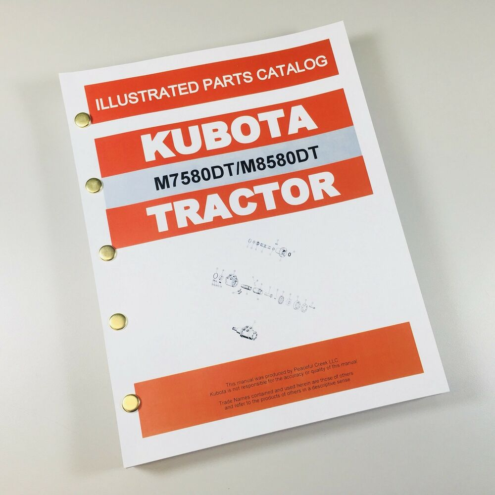 KUBOTA M7580DT M8580DT TRACTOR PARTS ASSEMBLY MANUAL CATALOG EXPLODED VIEWS  | eBay