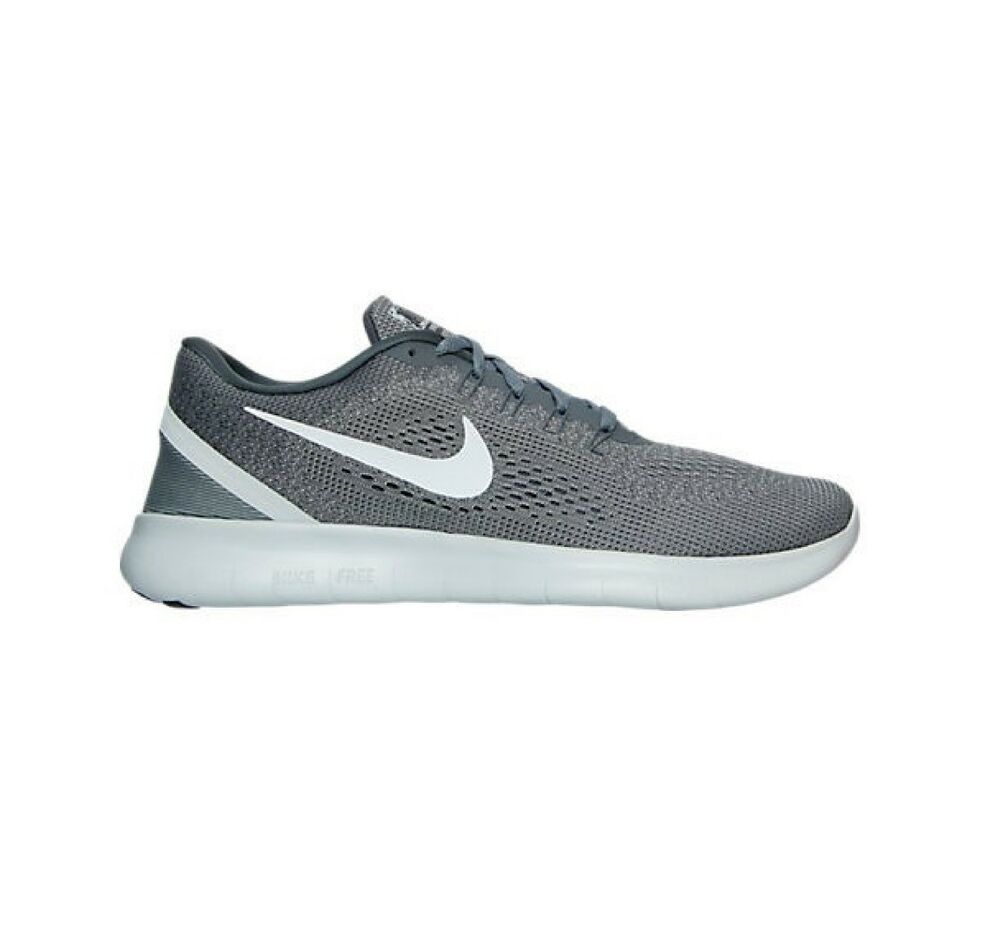 the best attitude ce0d6 4bd63 Details about NIKE FREE RUN MENS UK SIZE 6 7 COOL GREY WHITE TRAINERS SHOES  LADIES NEW