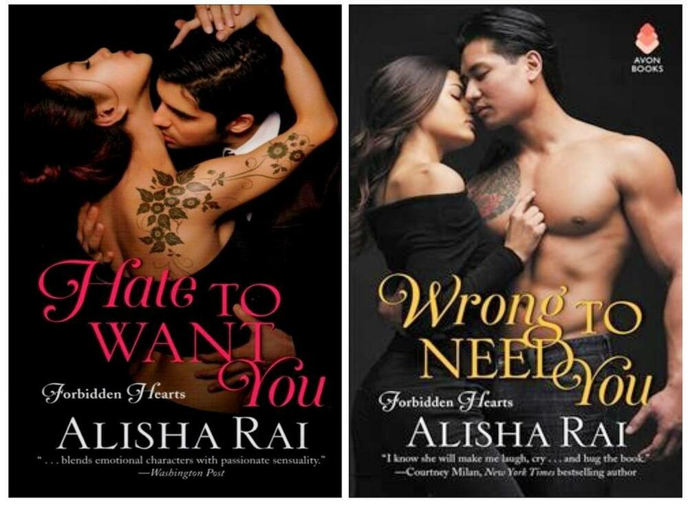 Alisha Rai Forbidden Hearts Romance Series Paperback Book Set 1 2