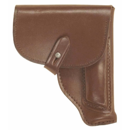 img-East european army surplus pistol holster, makarov sized, brown leather