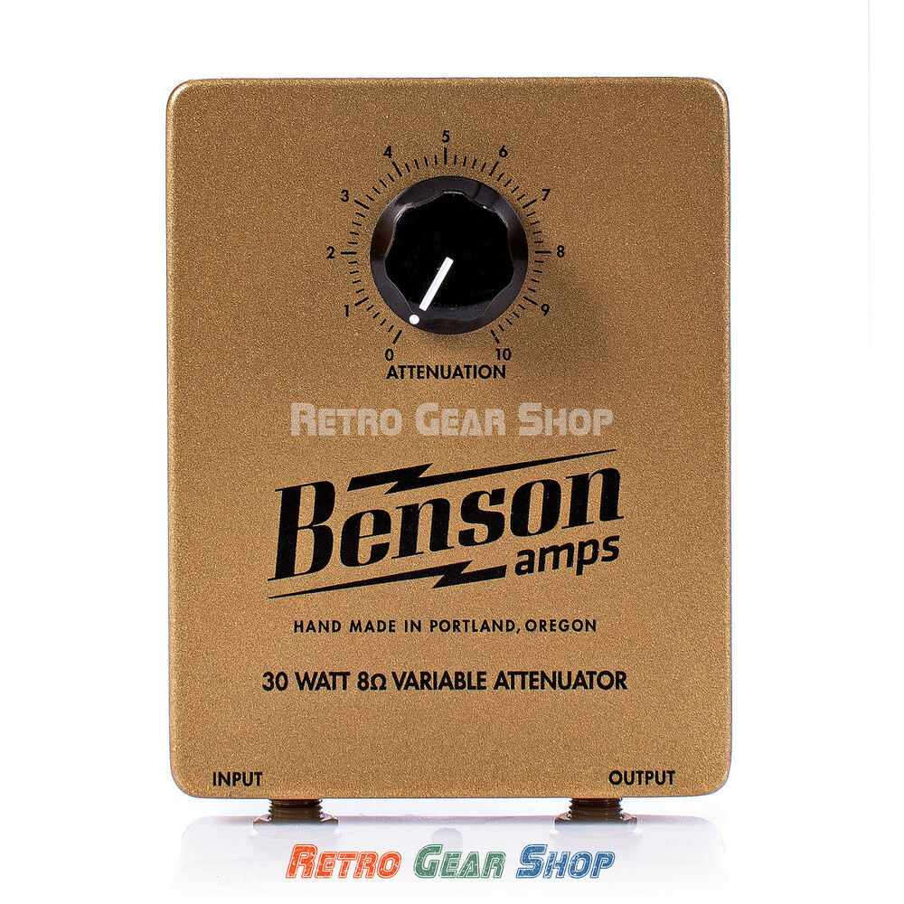 benson amps 30 watt 8 ohm attenuator for guitar amplifiers tube amp heads cabs ebay. Black Bedroom Furniture Sets. Home Design Ideas
