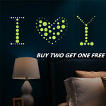 400pcs DIY Switch Wall Sticker Glow In The Dark star Round Dot Bedroom Decor