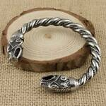 Viking Fenrir Wolf Bracelet Stainless Steel Arm Ring