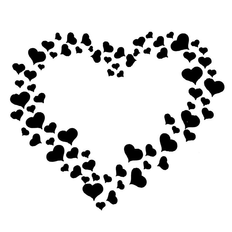 Details About Re Usable Little Hearts Pattern Stencil Template For Arts And Crafts 13x13cm