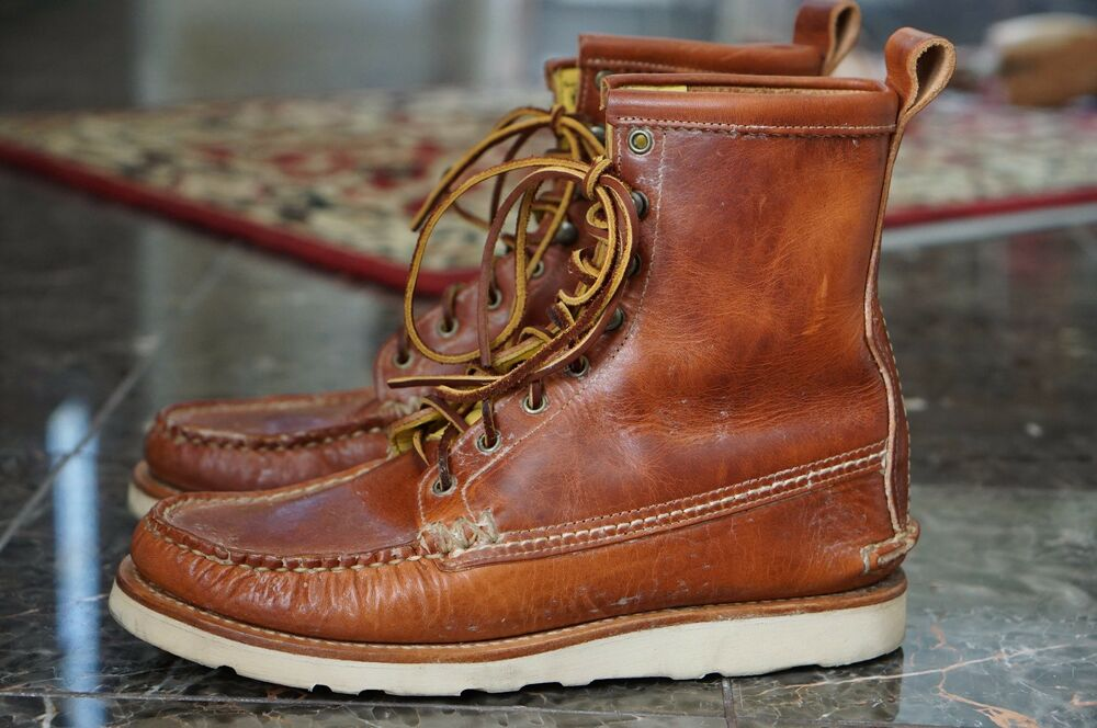 6db75ecd60b Details about YUKETEN 11 E MAINE GUIDE BOOTS MOCCASIN VIBRAM WEDGE SOLE  CHROMEXCEL