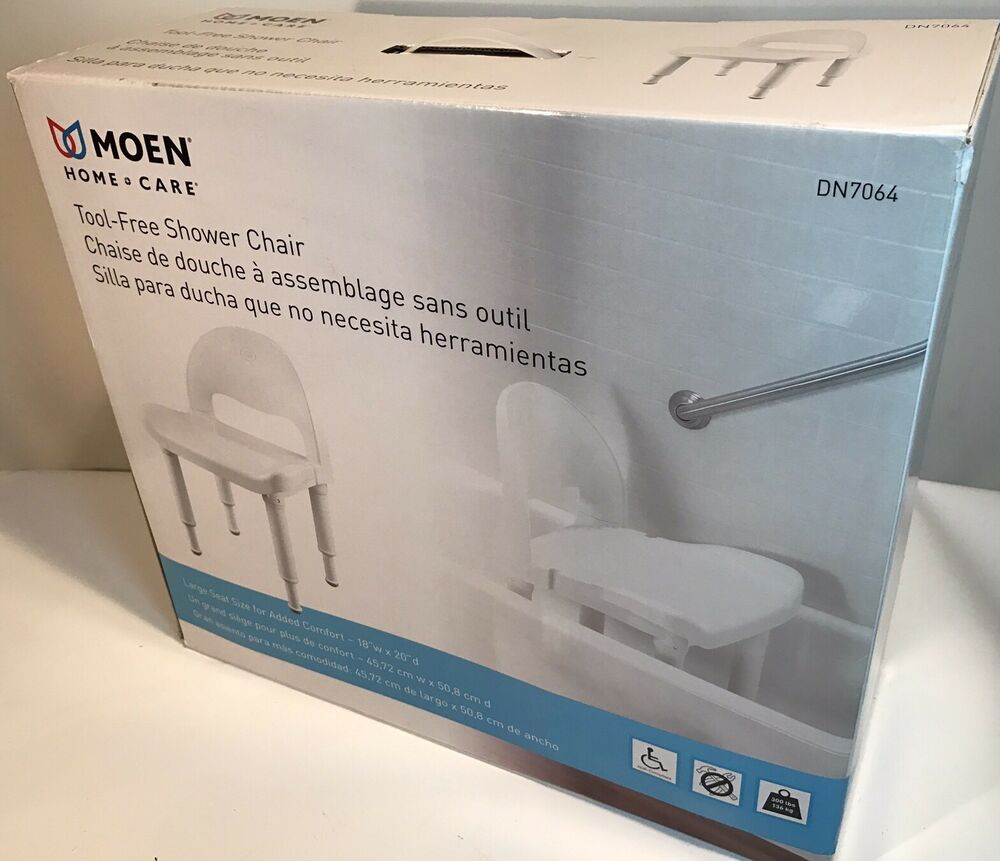 Moen DN7064 Home Care Tool Free Shower Chair New In Box Adjustable ...