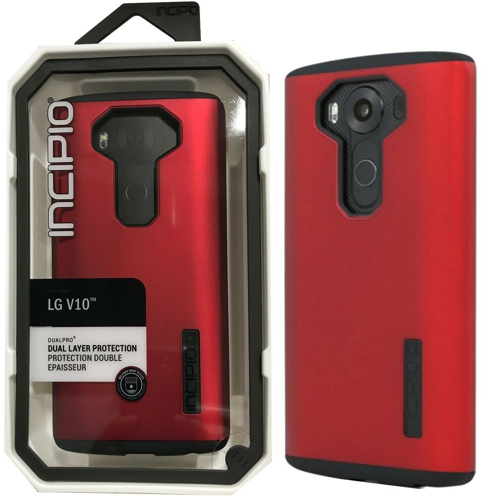 new arrival 1915a 4bb13 Incipio DualPro Protective Hard Hybrid Phone Cover Case for LG V10 - Red /  Black 840076157815   eBay