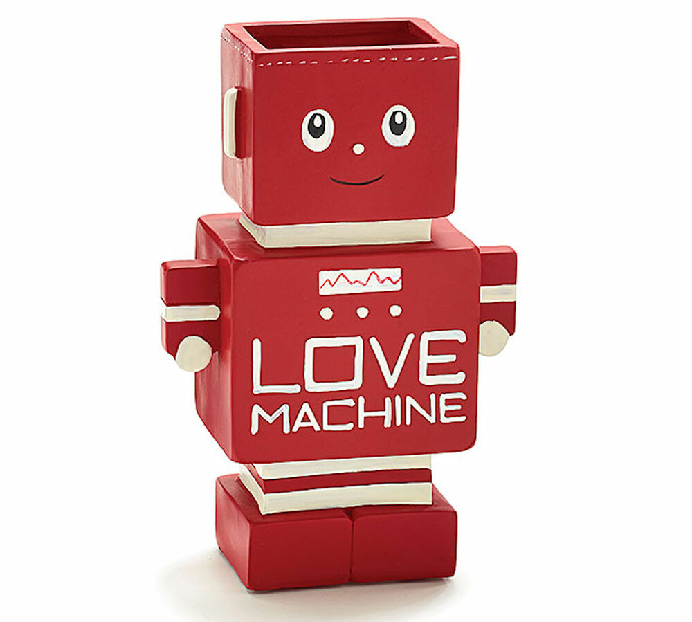 New robot vase red love machine resin 75 tall valentine gift new robot vase red love machine resin 75 tall valentine gift burtonburton ebay reviewsmspy