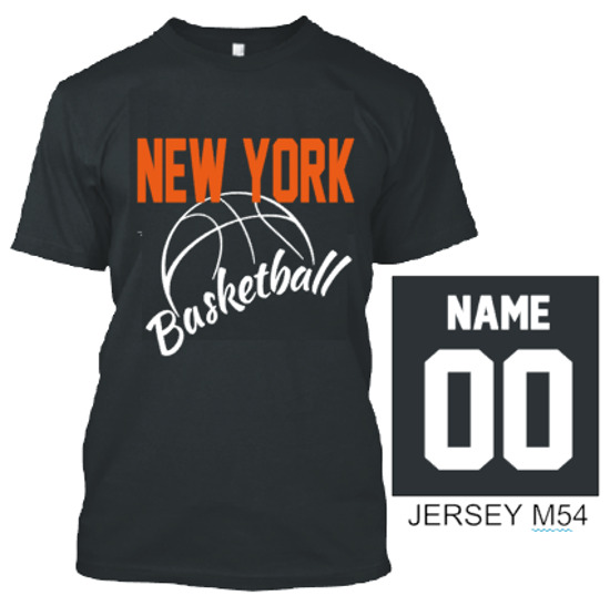 d3e16fc99df8 NEW YORK BASKETBALL T SHIRT JERSEY CUSTOM PERSONALIZED NAME NUMBER ...