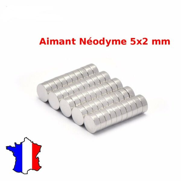 50x Mini Aimants Neodyme Neodymium Magnets Disque Rond Fort Puissant 5mm X 2mm