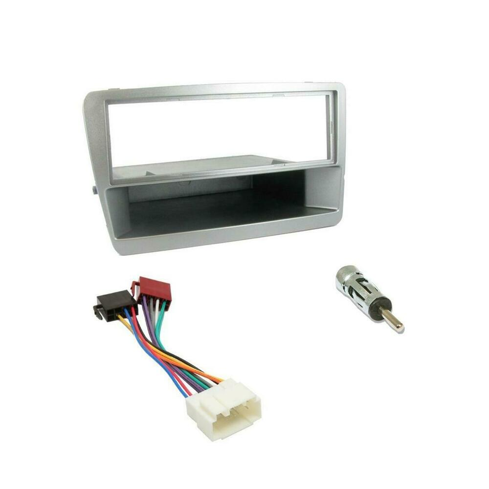 Honda Civic Car Cd Stereo Radio Single Din Silver Facia Fascia Mazda 3 Fitting Kit Wiring Loom Ebay Panel