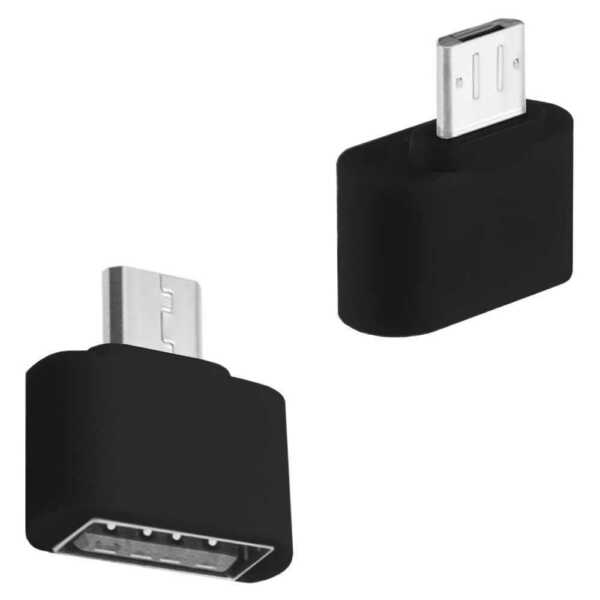 Mini Adattatore Da USB a Micro 2.0 On the Go per Tablets Smartphones OTG Nero