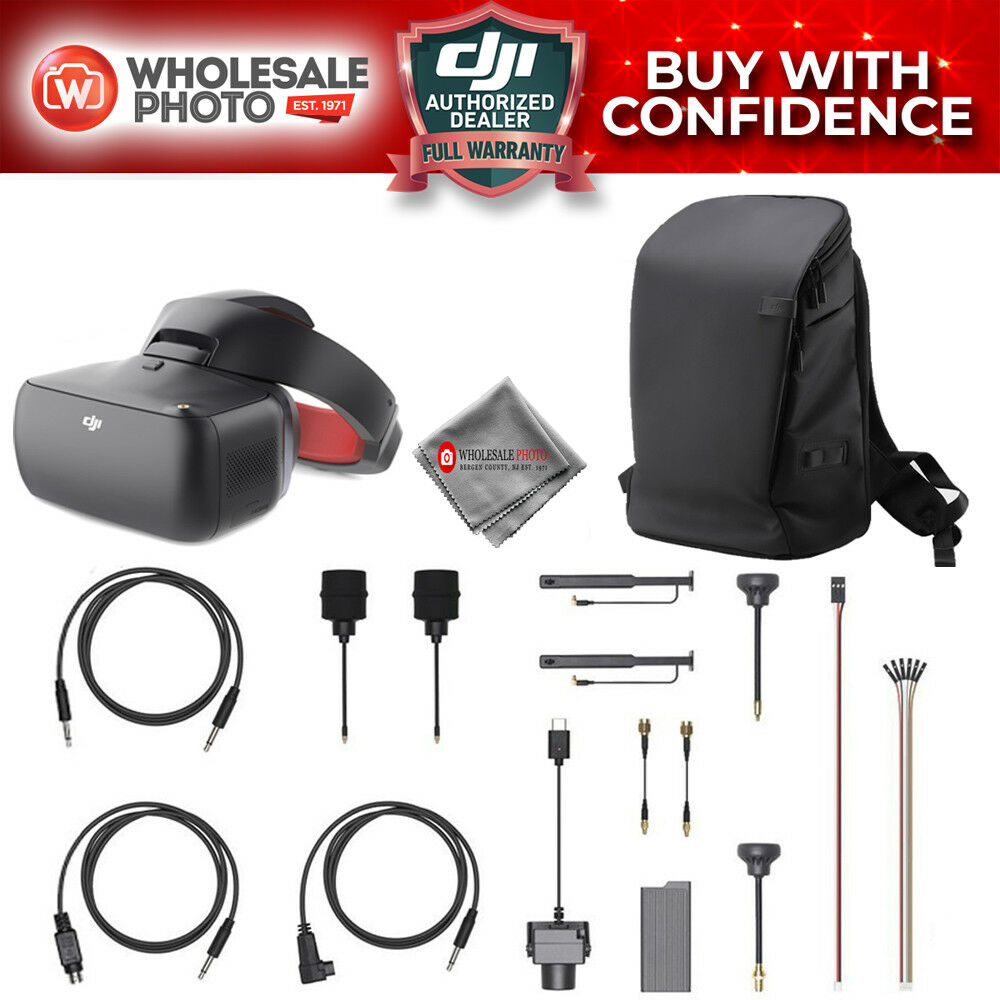 75aed4560c7 Details about DJI Goggles Racing Edition Combo With OcuSync Air System,  Backpack & Cloth