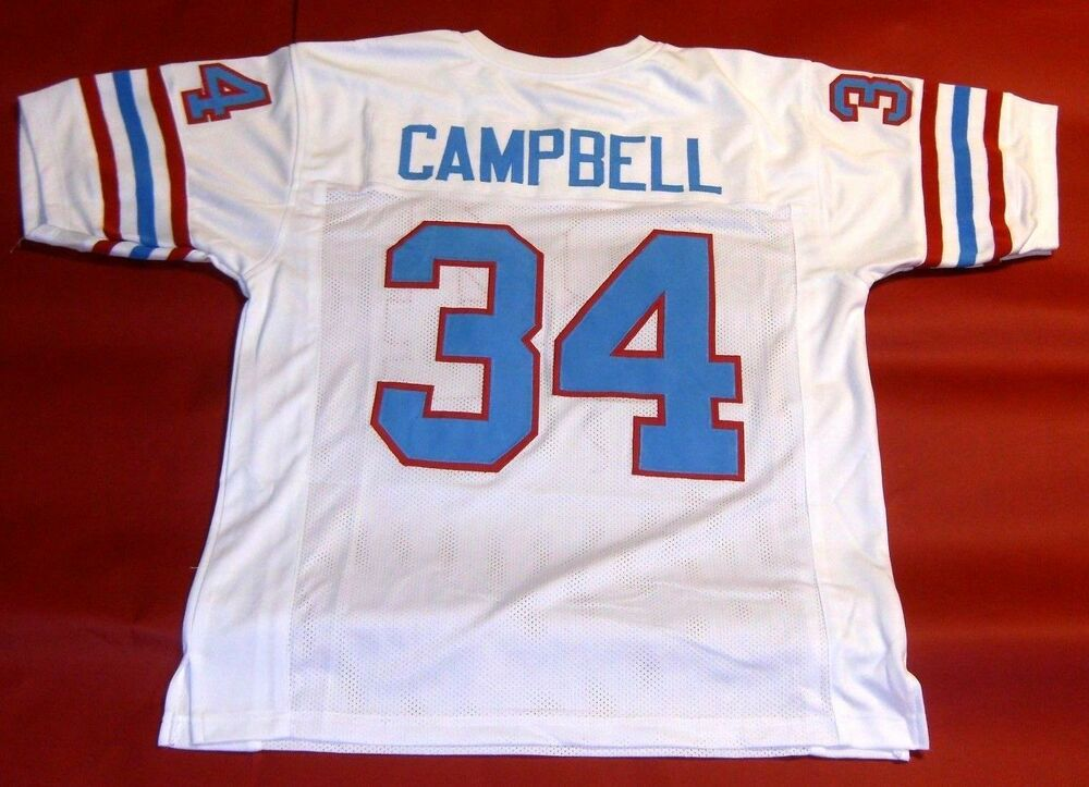 23ec50f5d Details about EARL CAMPBELL CUSTOM HOUSTON OILERS W JERSEY