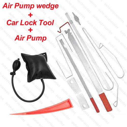 Car Door Lock Out Emergency Open Unlock Key Tools Kit Inflatable Air Pump Wedge
