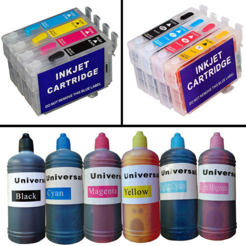 Full Set Refillable ink cartridges for epson SX235W SX435W P50 PX650W DX7400