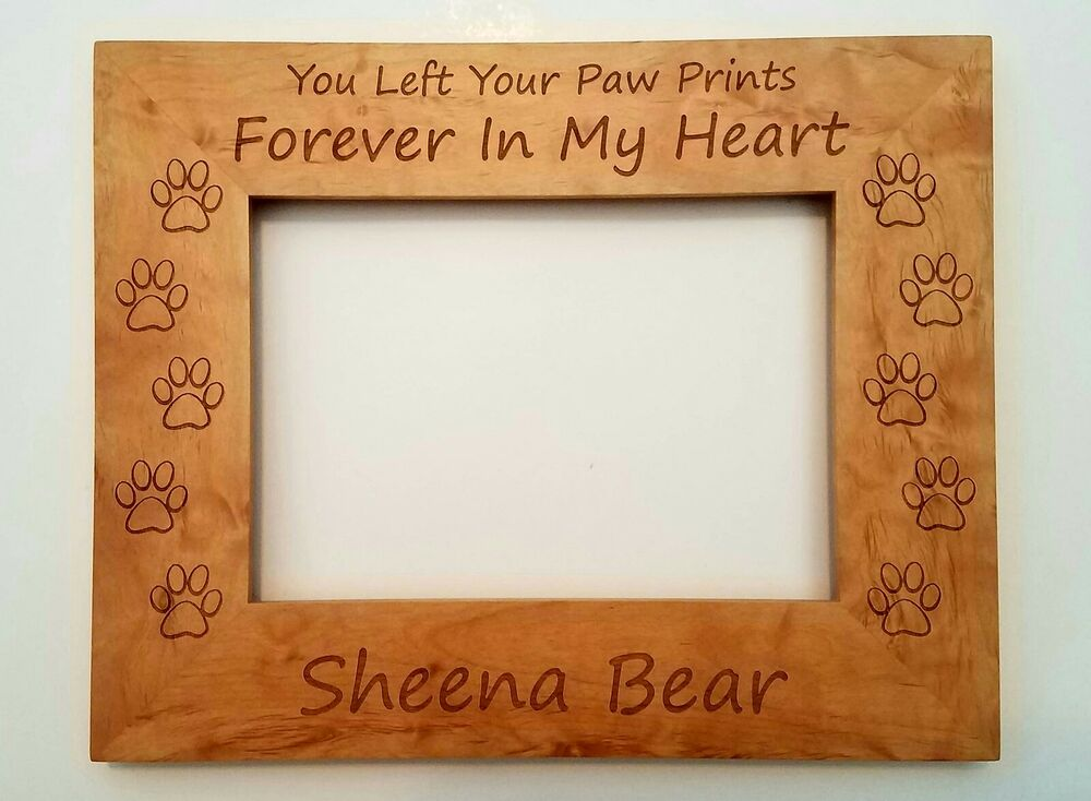 Personalized Pet Picture Frame You left your paw prints forever in ...