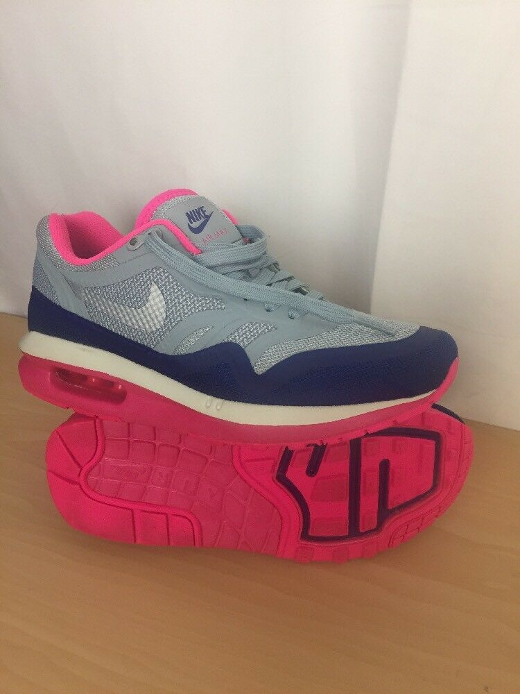 watch 1512a c16a2 Details about NEW Nike Air Max Lunar 1 Light Grey Pink Blue Women s Sz 6  Flyknit Trainer Racer
