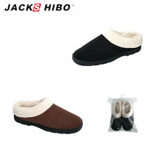 JACKSHIBO Mens Indoor House Winter Slippers Soft Home Plush Warm Cozy Shoes 7-12