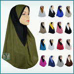 One Piece al Amira Hijab 2 colours Abaya Scarf pull on ready made instant muslim