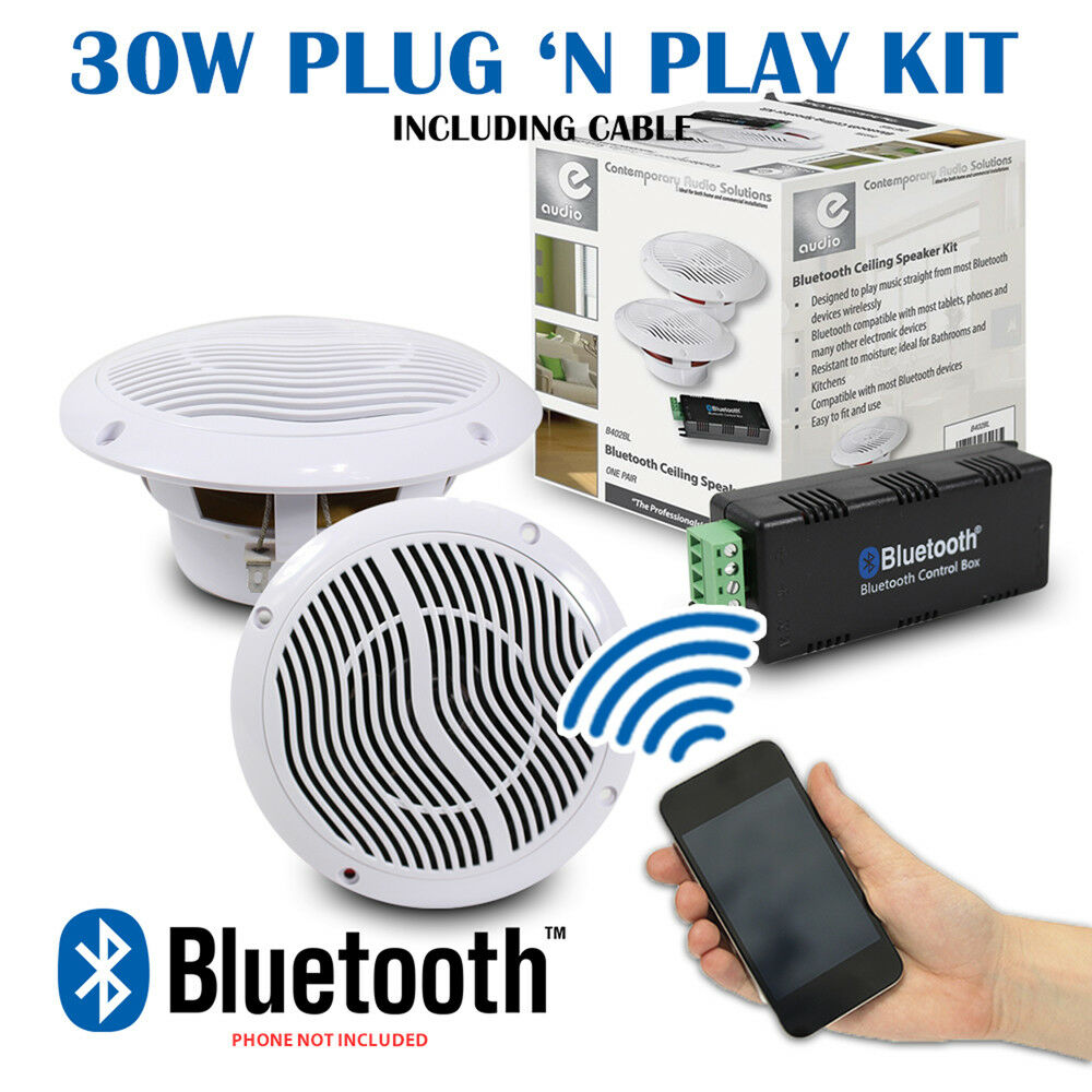Kitchen bathroom wetroom bluetooth wireless amplifier 2 - Bathroom ceiling speakers bluetooth ...