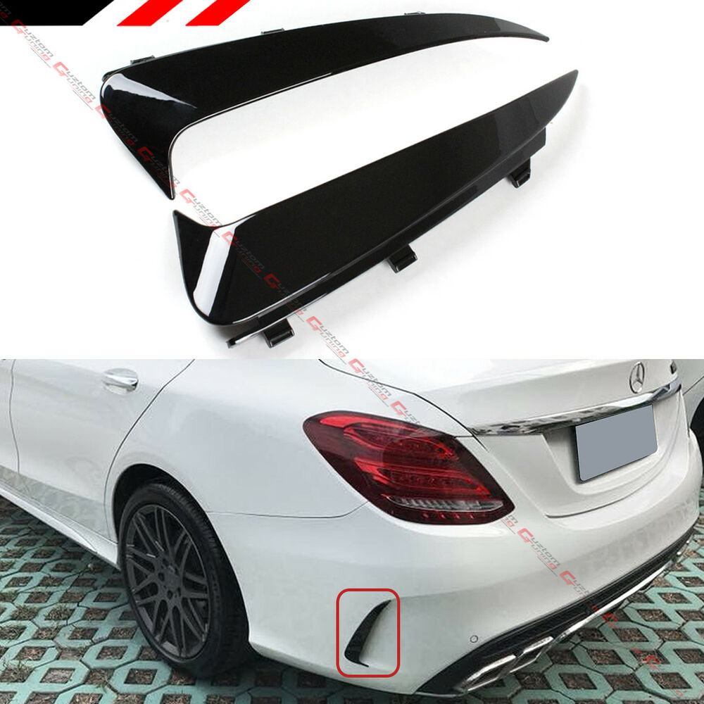 For 2015 18 Mercedes Benz W205 C43 C63 Amg 4dr Blk Rear
