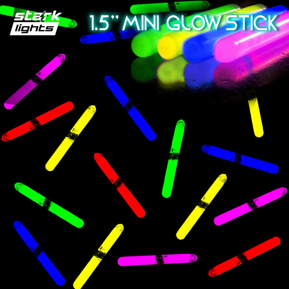1 5 mini glow sticks 6 assorted colors fishing glo light kids dj party set lot ebay. Black Bedroom Furniture Sets. Home Design Ideas