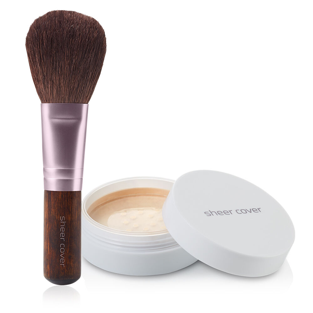 Details about sheer cover perfect shade mineral foundation natural finish free brush