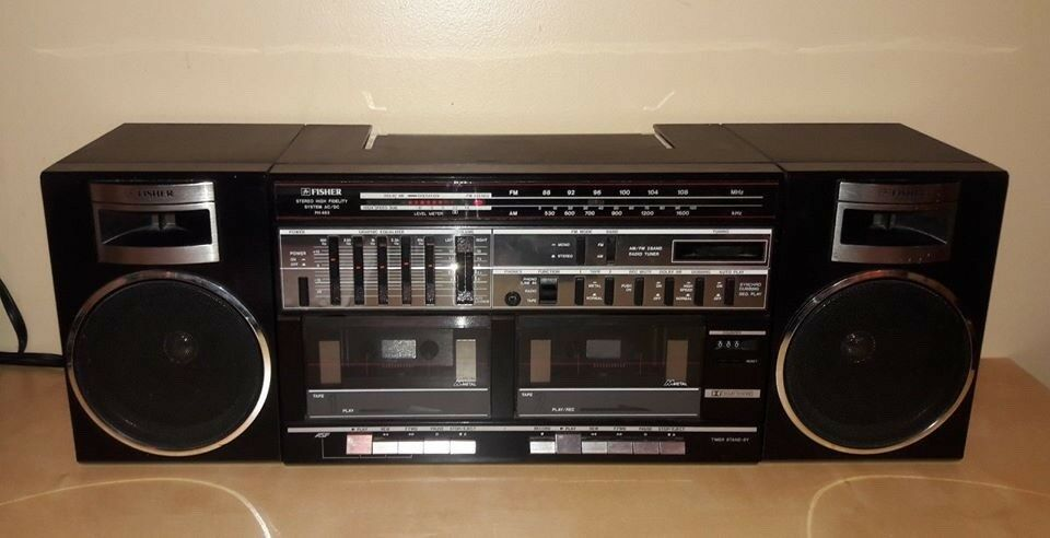 Details about VINTAGE Fisher PH 463 Home Audio AM/FM Radio Duel Cassette  Tape Recorder Player