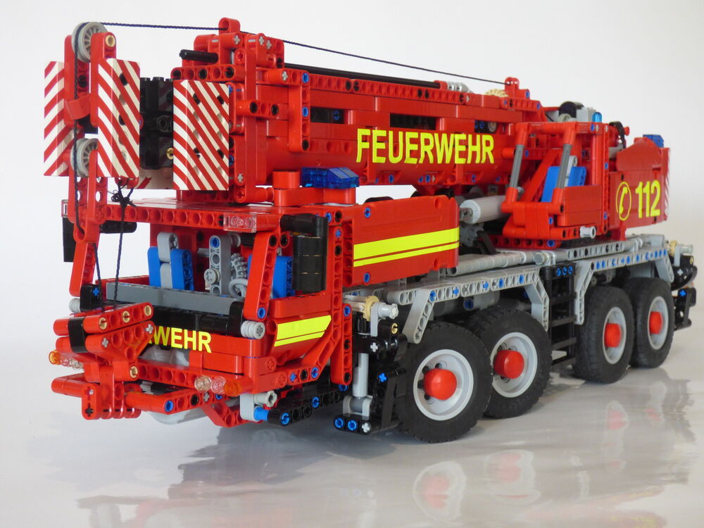 bauanleitung instruction 42009 autokran feuerwehr eigenbau moc lego technic ebay. Black Bedroom Furniture Sets. Home Design Ideas