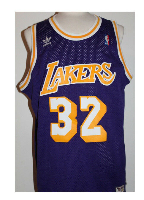 36bd937729d NBA Los Angeles Lakers Adidas 1979-1980 Magic Johnson 32 Hardwood Classic- Jersey