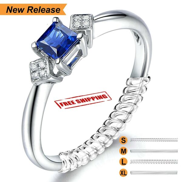 12 Pcs Ring Size Adjuster Invisible Clear Ring Sizer Jewelry Fit Reducer Guard