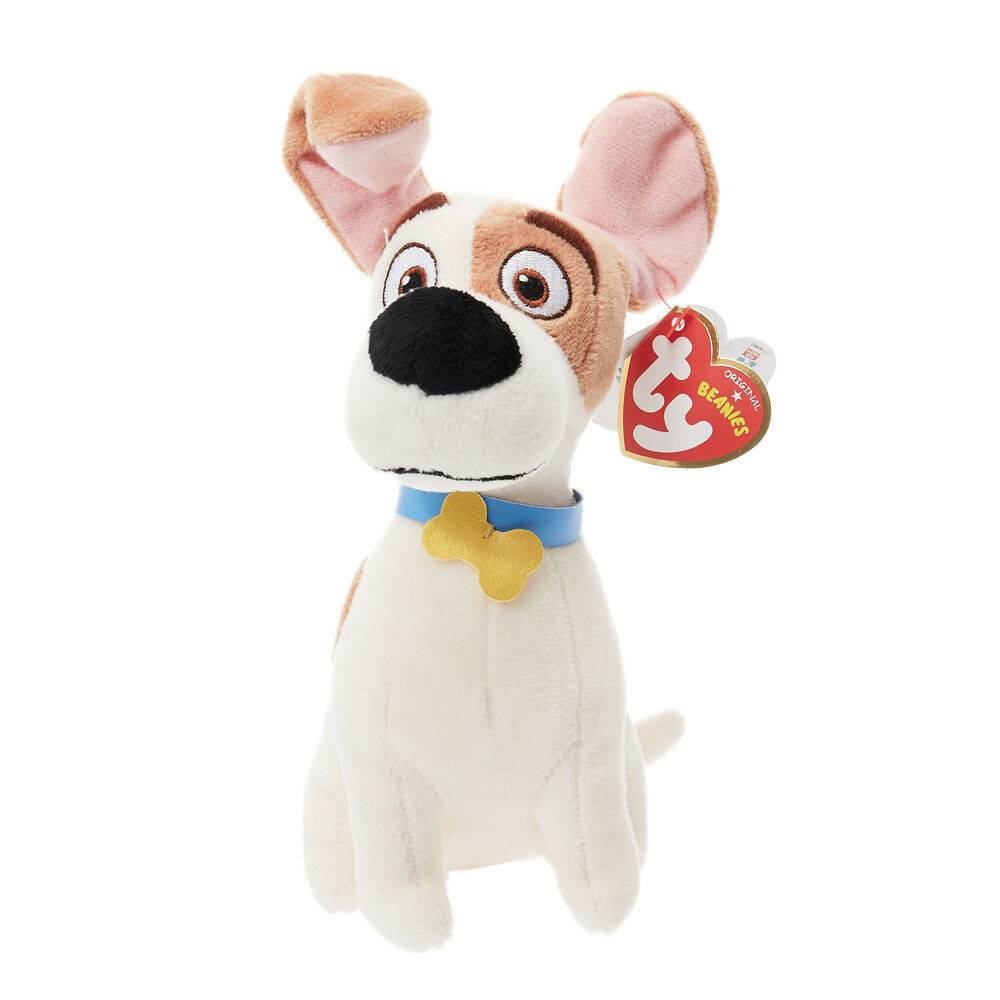 Details about ty Beanie Babies The Secret Life of Pets Max the Dog Stuffed  Animal Plush Toy 47212430118