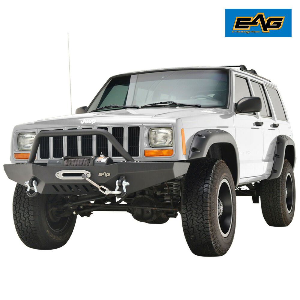 eag 1984 2001 jeep cherokee xj front bumper with winch. Black Bedroom Furniture Sets. Home Design Ideas