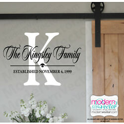 MONOGRAM Personalized Name Vinyl Wall Decal Sticker Bedroom Living room Decor