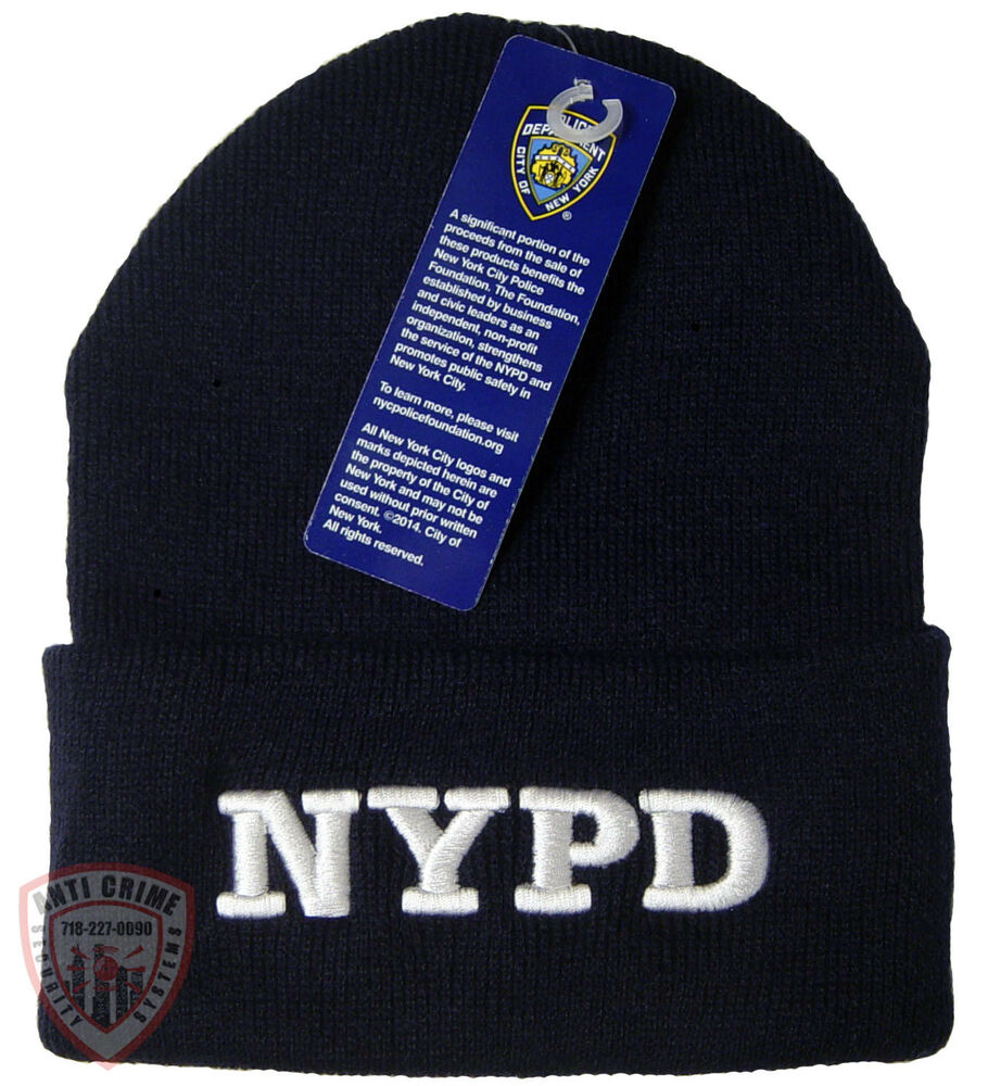 NYPD Hat Knit Beanie Officially Licensed by The New York City Police  Department  ce2d5881f256