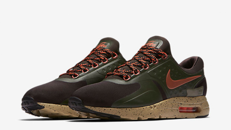 NIB Men's Nike AIR MAX ZERO SE 918232 200 SHOES Velvet Brown Dusty Peach Cargo